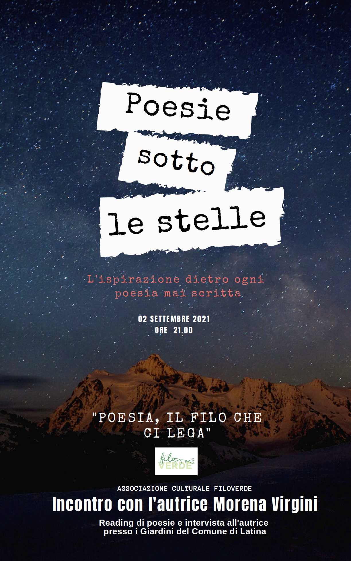 Poesia il filo che ci lega - Latina - 2 settembre 2021 - ore 9